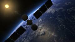 Satellite over Earth, View 3 Stock Footage