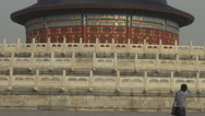 Stock Video Footage of Closeup tourist people take photo Temple of Heaven Beijing landmark day iconic