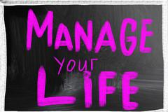 manage your life - stock photo