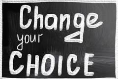 change your choice - stock photo