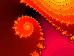 Decorative fractal spiral in a bright colors - stock illustration