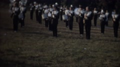Vintage , Majorettes and band leader Stock Footage