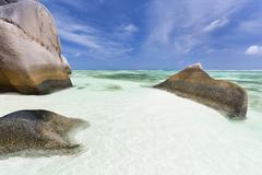 Anse Source D'Argent, La Digue, Seychelles - stock photo