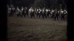 Marching band and Majorettes Stock Footage