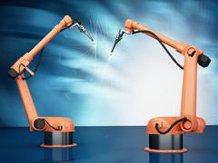 Industrial Robotic Arms Stock Photos