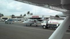 CESSNA CARAVAN BUSH PILOTS FLYING REMOTE AFRICA SAFARI Stock Footage