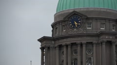 Dublin Customs House Clock Stock Footage
