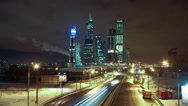 Stock Video Footage of Moscow city skyscrapers HD