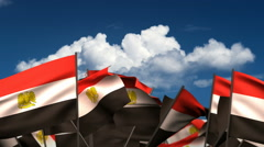 Waving Egyptian Flags Stock Footage