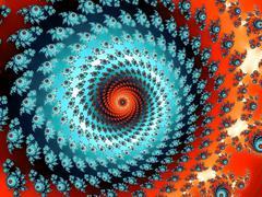 Decorative fractal spiral Stock Illustration