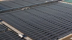 Static Industrial Solar Panels Stock Footage