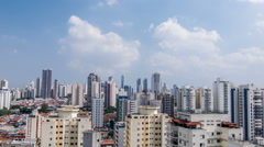 Timelapse - Buildings of Sao Paulo city Stock Footage