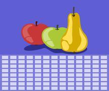 Fruit timetable Piirros