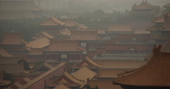 4K video of the rooftops of the Forbidden City in Beijing, China Stock Footage