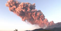 Large Eruption At Sakurajima Volcano Sends Ash Skyward Stock Footage