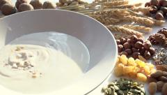 Muesli and Ingredients Stock Footage