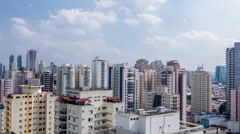Buildings of Sao Paulo city Stock Footage