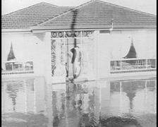 Homes Flooded Near Shepparton, early 70's Stock Footage