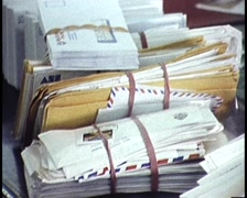 Mailroom, Snail Mail & Posting Letters (archival footage) Stock Footage