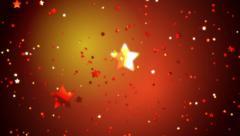 Orange Glittering Stars Falling on an Orange Background Stock Footage