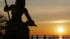 Neptune Silhouette at Sunrise Stock Footage