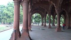 Diwan-i-Am, or Hall of Audience in Red Fort Complex Stock Footage