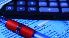 Tax macro document - stock footage