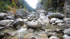 River in the mountains. Mountain gorge Stock Footage