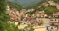 District in Riomaggiore - Cinque Terre,Italy - stock photo