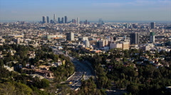 HD Hollywood Bowl Overlook Timelapse Los Angeles Day Stock Footage