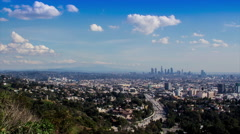 HD View from Mulholland Drive Los Angeles Timelapse Stock Footage