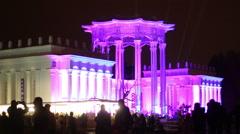 "Festival ""Circle Of Light"" - VDNKh, Pavilion of Uzbekistan Stock Footage"