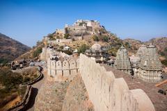 Kumbhalgarh Fort in Rajasthan - stock photo