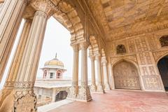 Marble Palaces in Agra Fort, India Stock Photos