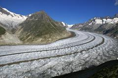 Glacier of Aletsch, Switzerland - stock photo