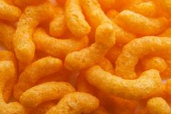 Cheese Puff. yummy chips snack Stock Photos