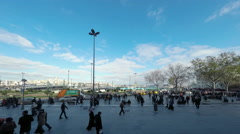 Time-lapse video of people in Eminonu Square in Istanbul, Turkey (Editorial) Arkistovideo