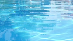 Blue Swimming Pool Surface Stock Footage