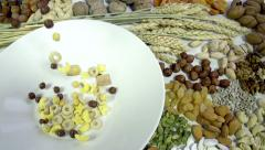 Mix Breakfast Cereal Stock Footage