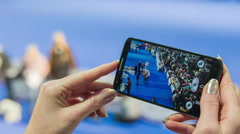 Stock Video Footage of Smartphone video recording competition