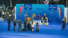 International dog exhibition winners Stock Footage