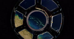 Earth As Seen Through Window Of International Space Station 4k - stock footage