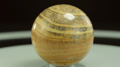 Rotating picture jasper ball Stock Footage