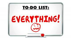 Everything Word Written on To Do List Too Much Stress Overworked - stock footage