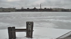St. Petersburg. Prison on the Neva embankment of the river 6. Time lapse Stock Footage
