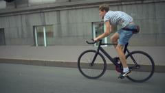 Fixed Gear and the City Stock Footage