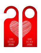 Door tags with Valentine's day design Stock Illustration