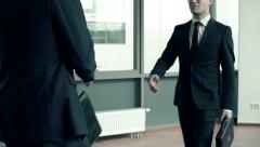 Gesture of Formality Stock Footage