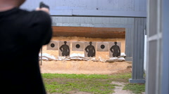Gun fire target practice - stock footage