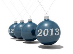 Christmas balls new year's eve pendulum 2012 - 2013 - stock photo